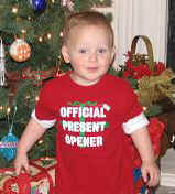 "Luke is the ""official present opener"""
