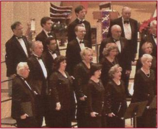 Bruce & Nancy singing with Schola Cantorum of Texas